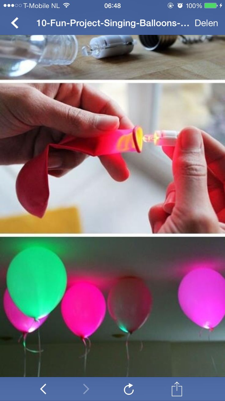 Balloon fun!  Some great ideas here when you click on the photo!