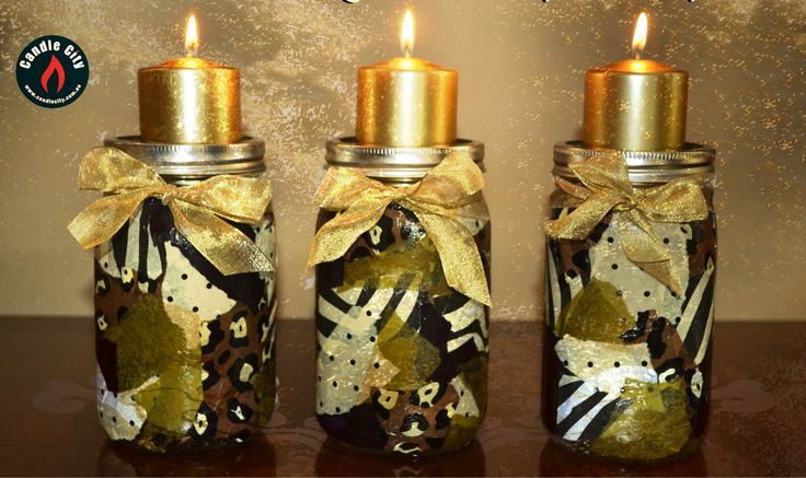#GoldenTint Candles , DIY #style glittering to create #magic  http://goo.gl/zxGjYQ