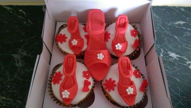 Schoentjes op cupcakes