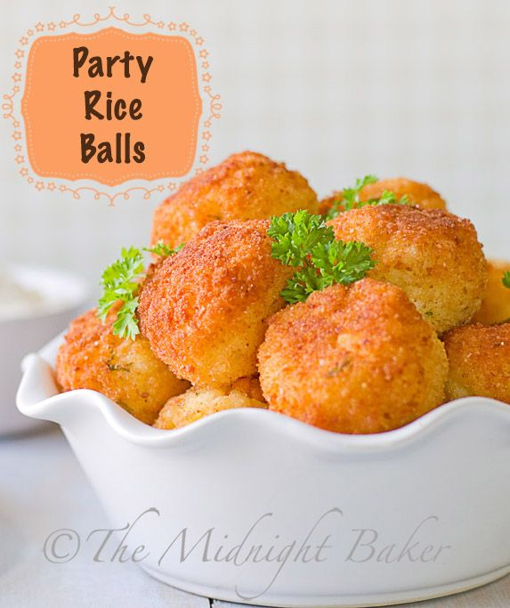 Party Rice Balls | bakeatmidnite.com |