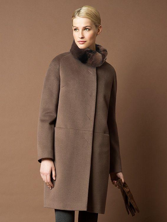 Пальто женское цвет мокко, пальтовая ткань, артикул 1014021p60188