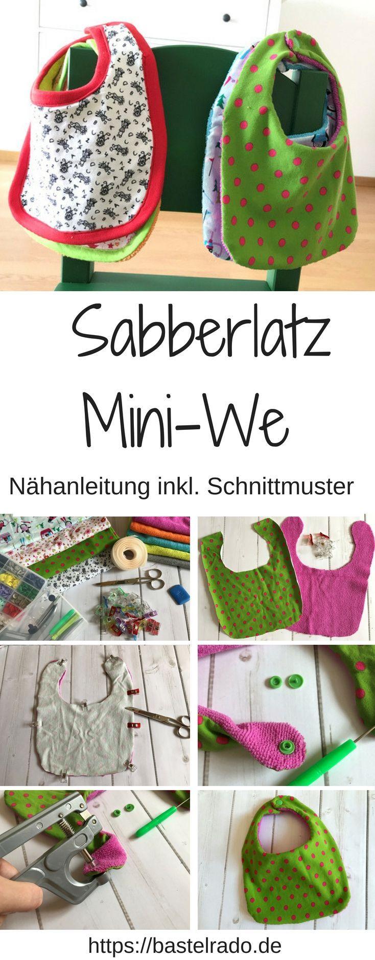 Sabberlatz Mini-We – Nähanleitung inkl. Schnittmuster  – Nachhaltig Leben mit Familie