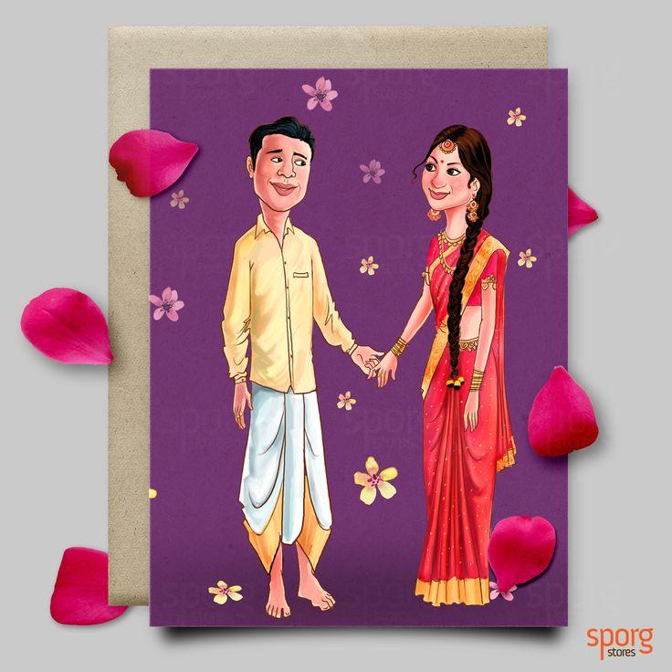 #caricatureweddinginvite #weddinginvitaiondesign #indianwedding #wedding #weddinginvitation #illustratedweddingcard #southindianwedding