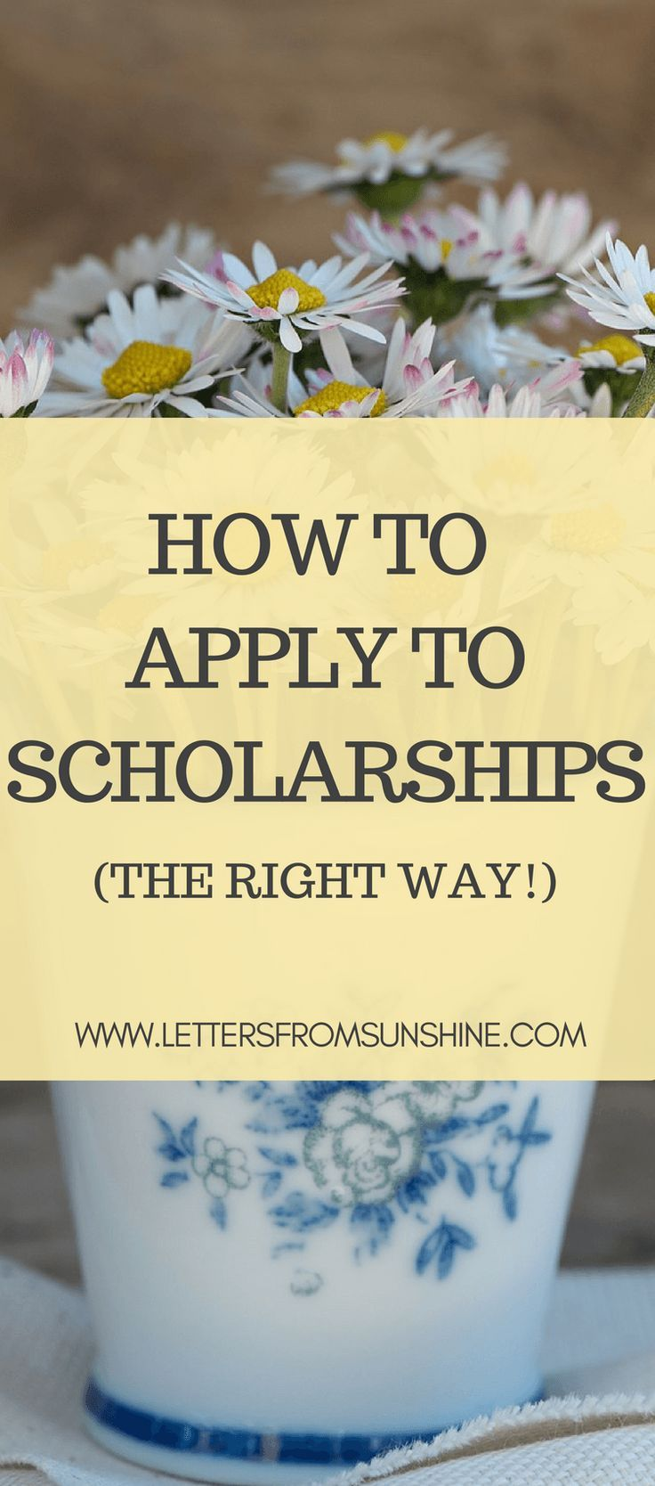 How to Apply for Scholarships (the right way!) | There are plenty of scholarships out there to help students fund their college education. This post covers how to apply to them the right way.