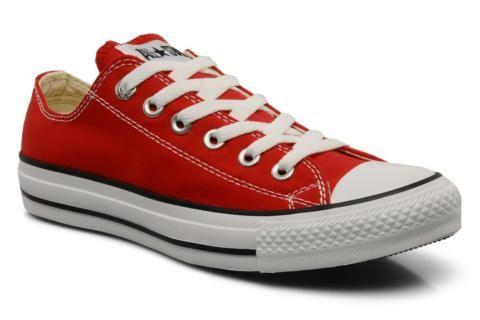 Converse Chuck Taylor All Star Ox W @Sarenza.nl: bij zwart-witte printbroek. Combineer met rode top of rode accessoires.