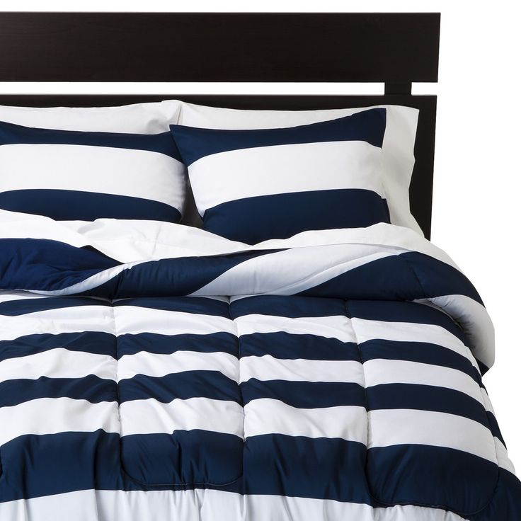 Room Essentials Rugby Comforter Blue White Room Essentials Long Room Comforters
