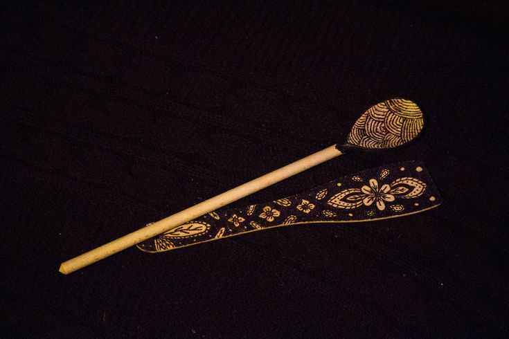 Pyrography Spoon - Flowers