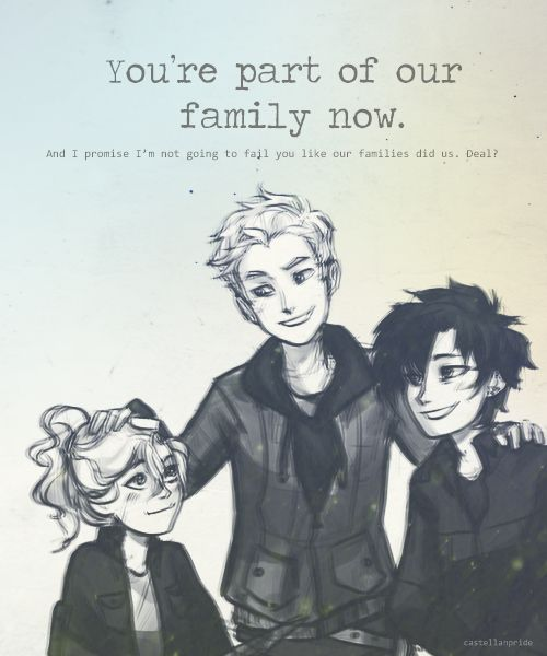 I suppose in the end you didn't fail them. But in your last few years, you did. Majorly. Luke Castellan, Thalia Grace, and Annabeth Chase