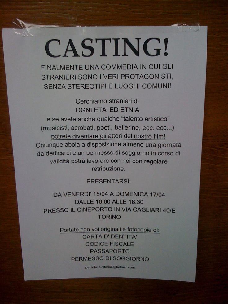 Il manifesto con cui era stata tappezzata Torino, alla ricerca dei nostri protagonisti...