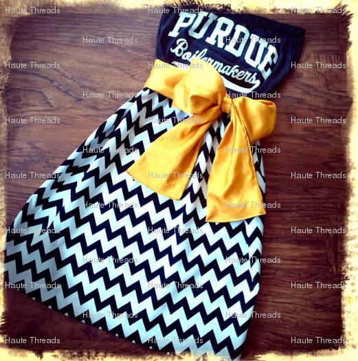 You send a T-shirt and then it is made into a custom gameday dress!  Such a great idea. via Etsy.