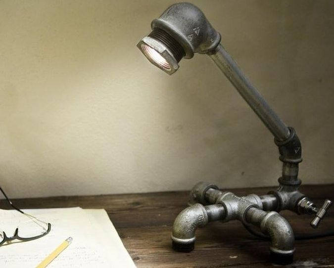 Kozo 2 Plumbing Inspired Desk Lamp