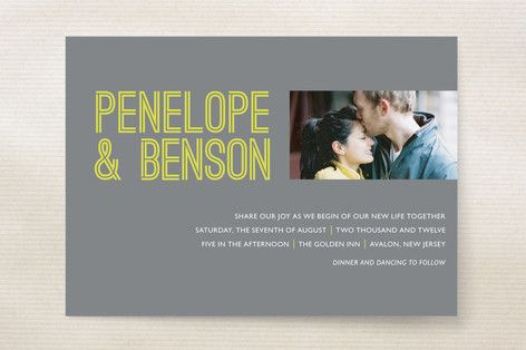 Something Bold Wedding Invitations by 24th and Dune at minted.com