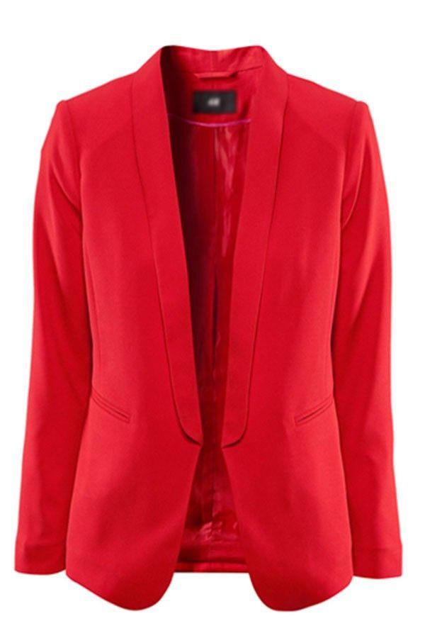 Chic Lapel Two Pockets Stylish Blazer @ Blazers for Women,Boyfriend Blazer,White Blazer,Sequin Blazer,Floral Blazer,Red Blazer,Leather Blazer,Cheap Blazers,Cute Blazers,Knit Blazer,Denim Blazer,Double Breasted Blazer