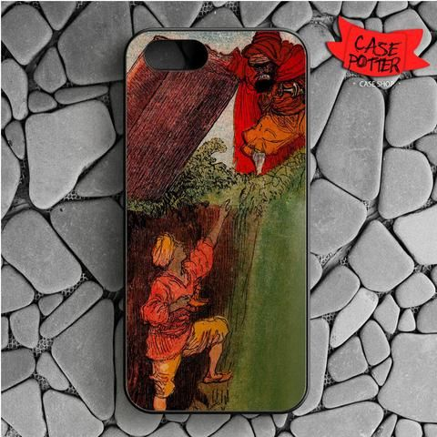 Aladdin And Jafar iPhone SE Black Case