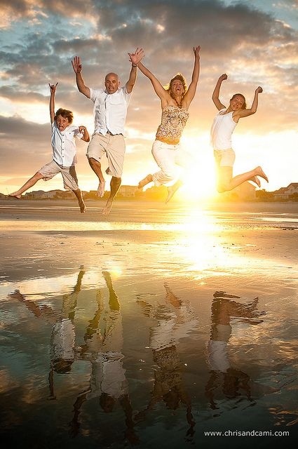 family jumping portrait by Chris Smith