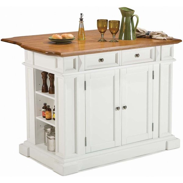White Distressed Oak Kitchen Island By Home Styles By Home Styles Kitchens Kitchen Reno And