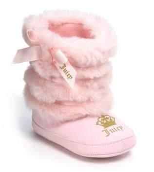 Crazy pink furry boots from Juicy Couture