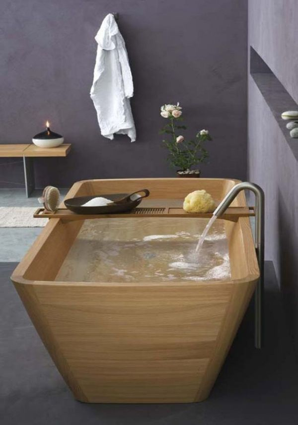 Stylish wooden bathroom collection by Francoceccotti: Wooden Bathtubs, Bathroom Design, Bath Tubs, Wall Color, Interiors Design, Dreams Bathroom, Bathroom Ideas, Wooden Tubs, Woods