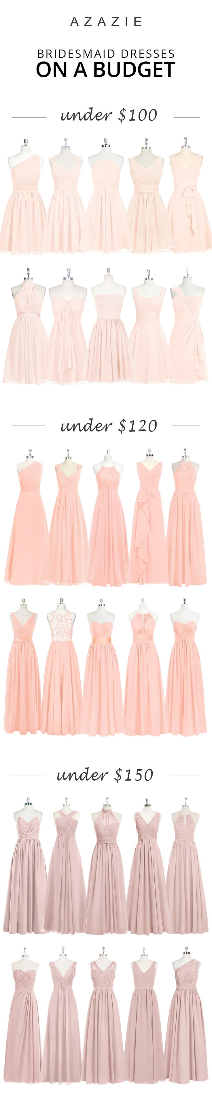 Check out our 100+ styles from long, elegant gowns, to fun and flirty dresses. Azazie focuses on making high-quality dresses with affordable prices. We believe that every woman should be able to wear something that they love and feel comfortable in.