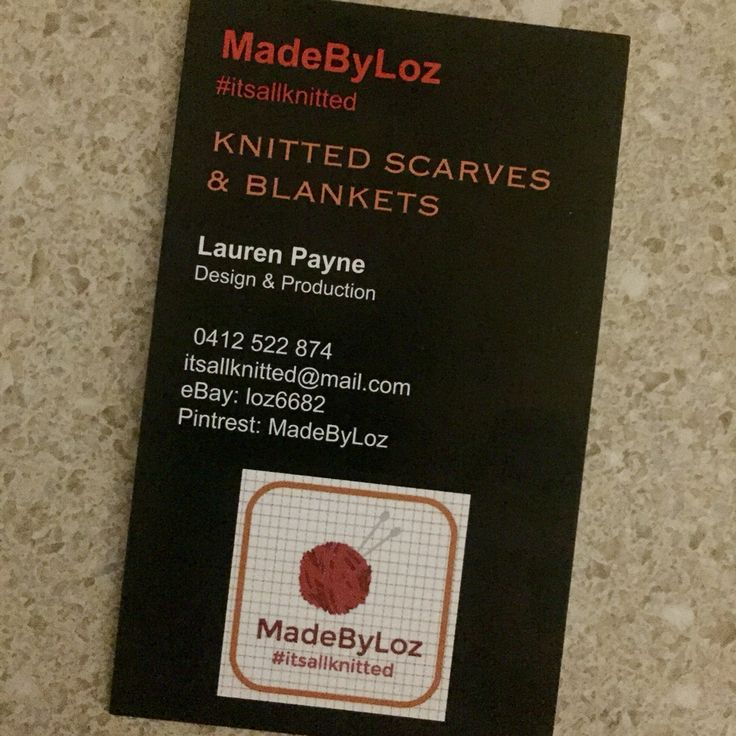 My newly designed business cards  They look amazing!!  #itsallknitted