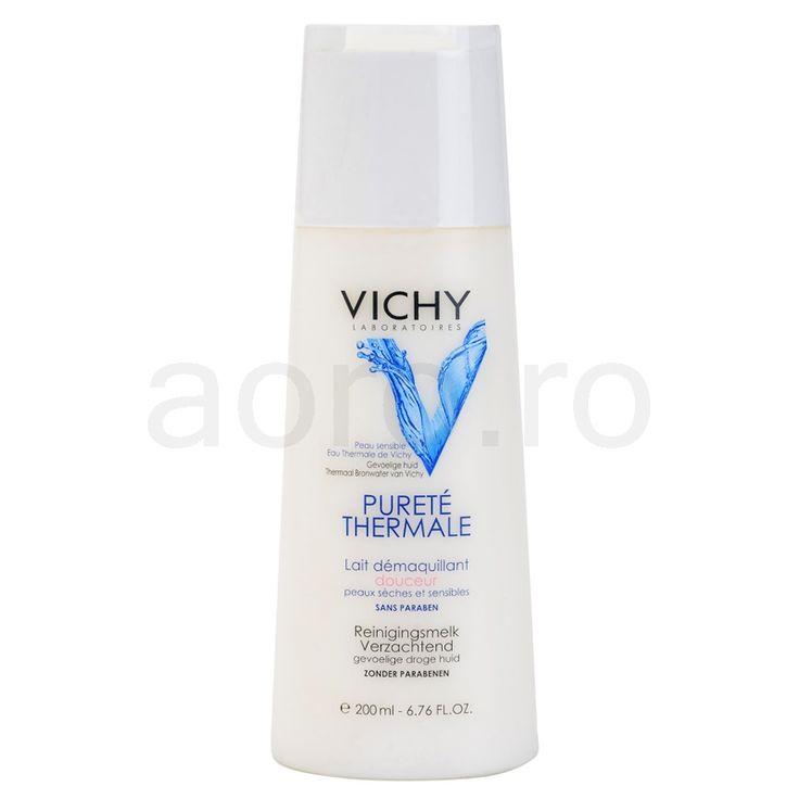 Vichy Pureté Thermale, lapte demachiant pentru ten uscat si sensibil | aoro.ro