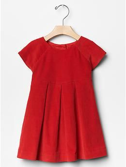 Corduroy pleat dress | Gap - My girls are going to look stinkin' adorable this Christmas!