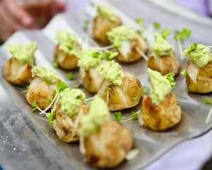 Mini Jacket Potatoes with Guacamole