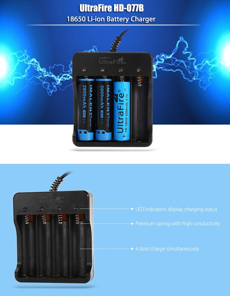 UltraFire HD-077B 18650 Lithium-ion Battery Charger Black - Tmart