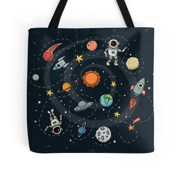 Outer Space Illustration by Gordon White | Tote Bag  Available @redbubble  --------------------------- #redbubble #sticker #totebag #bags --------------------------- http://www.redbubble.com/people/big-bang-theory/works/22569162-outer-space-planetary-illustration?asc=u&p=tote-bag&rel=carousel