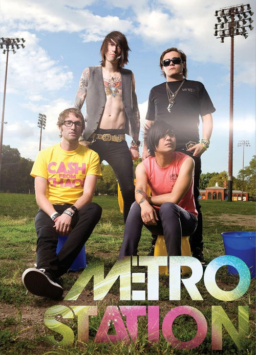 Metro Station. OMG! Mason is so cute [back right corner] i just love bands like this!!