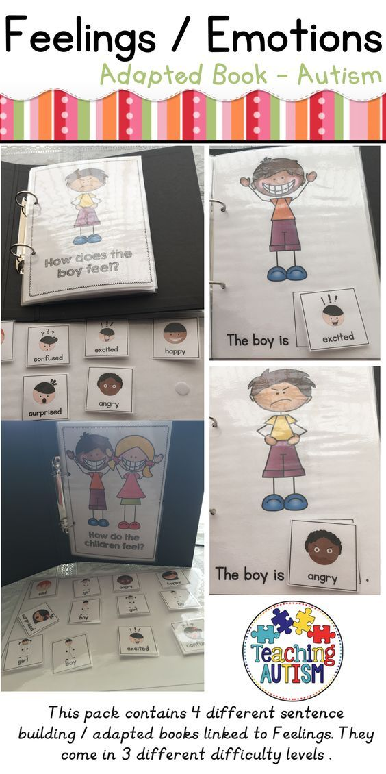 This pack includes 4 different sentence building books all related to Feelings / Emotions. All books come in b/w and col option. This is great for a Spec Ed or Autism Classroom / working with Spec Ed or students with Autism. The books include; ♦ How does the boy feel? - 1 box answer ♦ How does the girl feel? - 1 box answer ♦ How do the children feel? - 2 box answer ♦ How do the children feel? - 4 box answer Each book comes with instructions included on the first page on how you can put t...
