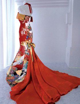 画像 : 振袖、打掛、帯、留袖…和装の布地がドレスに生まれ変わるとこうなる! - NAVER まとめ