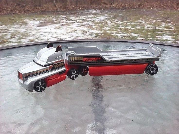 Hot Wheels Diecast/Plastic Semi Rig Hauler Slide Tilt Trailer Truck Wheat Co  #HotWheels