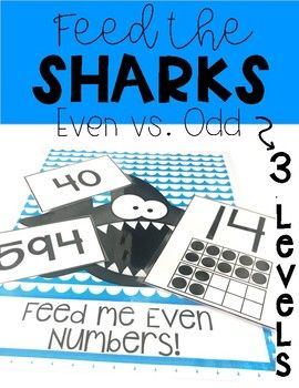 SAVE MONEY - CHECK IT OUT IN THE EVEN AND ODD BUNDLE! Even and Odd Practice Game! Help students at any level practice identifying even and odd numbers. This game comes with THREE levels. One shark only eats odd numbers and one shark only eats even numbers!
