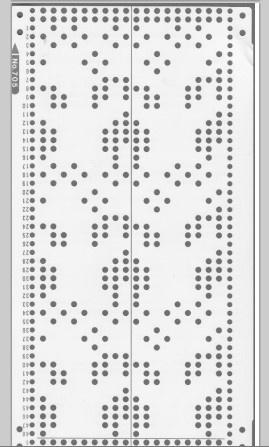 Knitmaster HK160/MK70 18st punchcards No. 705