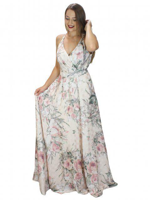 f98b195fe Vestido Longo Adoro Floral | Confecções | Vestido longo, Floral ...