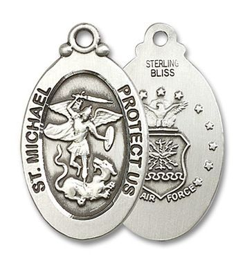 Sterling Silver St. Michael / Air Force Medal 4145RSS1