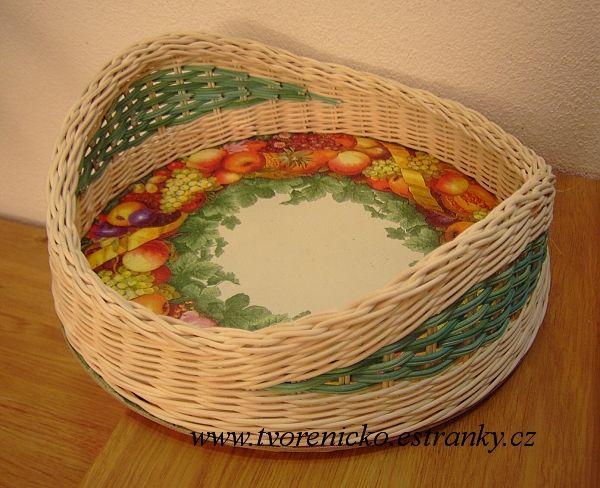 Pletení z pedigu a další moje tvoření - Fotoalbum - C) NÁVODY a RADY - Vyvýšení strany košíku