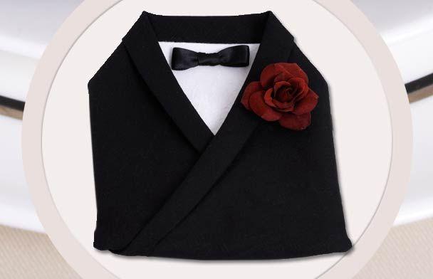 Wedding Dress Napkin Fold 3