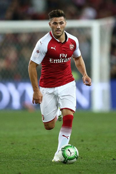 Sead Kolasinac of Arsenal in action during the match between the Western Sydney Wanderers and Arsenal FC at ANZ Stadium on July 15, 2017 in Sydney, Australia.