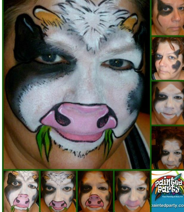 How to Cow - face paint