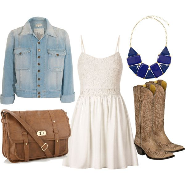 Country Girl Style #5 // Would be really cute for a chilly, summer day!