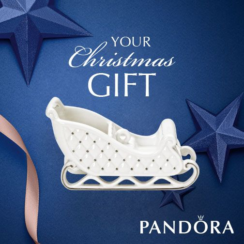 YOUR CHRISTMAS GIFT FROM PANDORA and JOHN FRANICH JEWELLERS  Spend $180 or more on PANDORA and receive a luxury, collectable porcelain sleigh ornament*.  Visit us in store at JFJ  *Gift available from 26th November – 7th December 2014 or while stocks last. Offer not available with any other PANDORA promotional offer, including SALE items. CONDITIONS APPLY