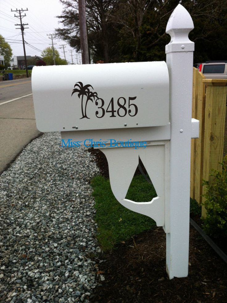 Mailbox address mailbox numbers mailbox decal mailbox vinyl numbers beach decorations