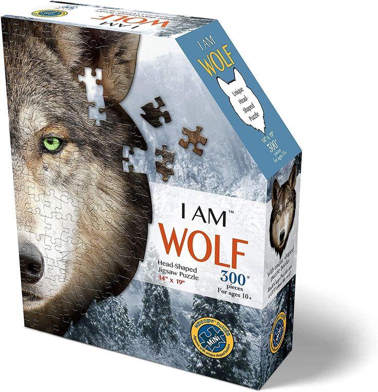 I am wolf 300 piece animal headshaped jigsaw puzzle in