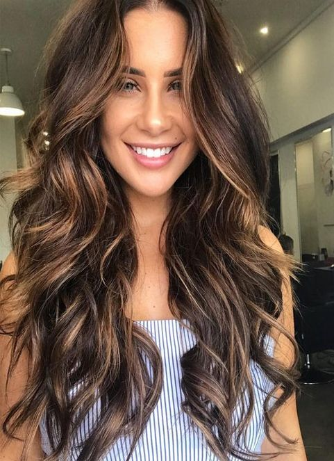 Sultry Caramel Hairstyles Ideas For Spring 2018 Brunette