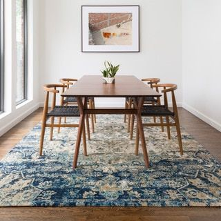 Contessa Blue/ Ivory Rug (12' x 15') - Free Shipping Today - Overstock.com - 19819113 - Mobile