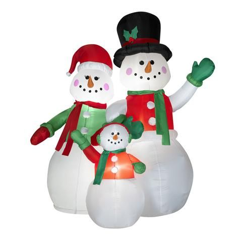Inflatable Snowman Family | Christmas decorations ...