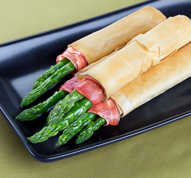 Phyllo and Prosciutto Wrapped Asparagus | Athens Foods