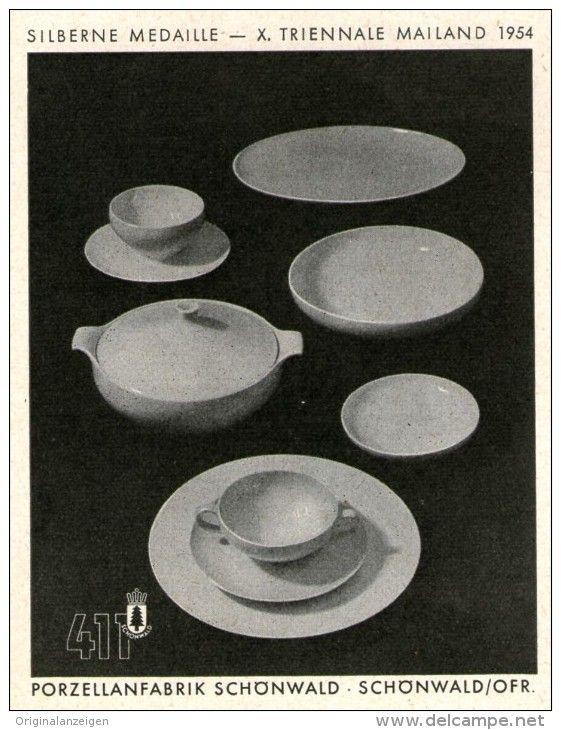 Original-Werbung/Anzeige 1955 - SCHÖNWALD PORZELLAN  411 - ca. 70 x 90 mm